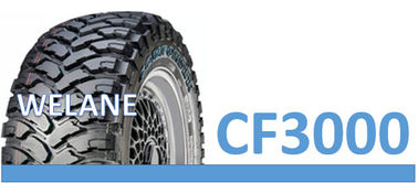 China Low Noise Solid Radial Mud Tires 16 - 20 Inch Size , White Sidewall 4x4 Truck Tires factory